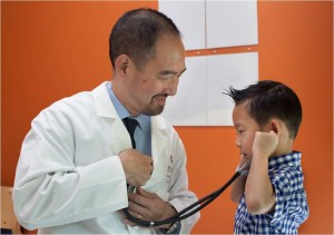 Dr Chen with patient 2