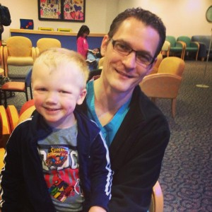 Mason Garka with Dr. Michael McMullan