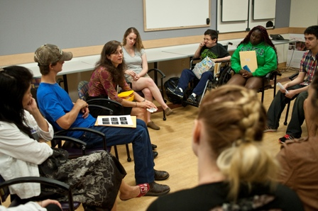 Teen transition day group talk