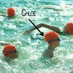 Chloe competes in triathlon