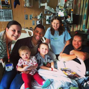 Russell Wilson visits patients and their families at Seattle Children's each Tuesday.
