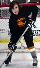 Mavrick Playing Hockey