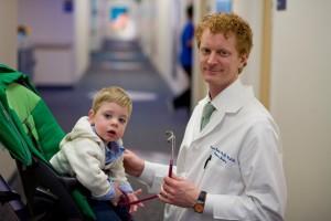 Dr. Adam Goldin with patient Elias Metallo